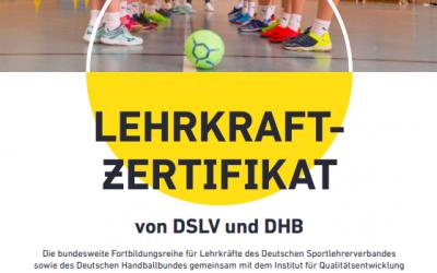 Lehrkraftzertifikat von DSLV und DHB